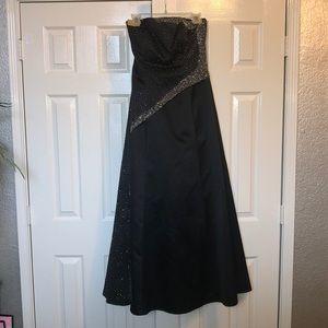 Black Sequined Prom Dress